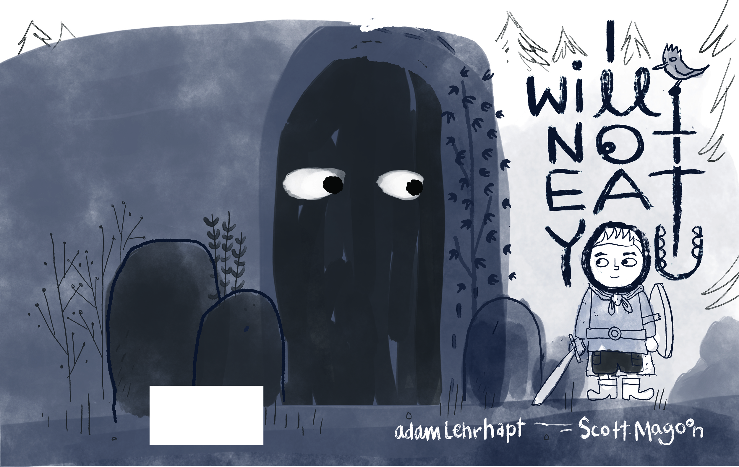 Here's a cover concept we abandoned because it was so similar to my jacket for  The Boy Who Cried Bigfoot.