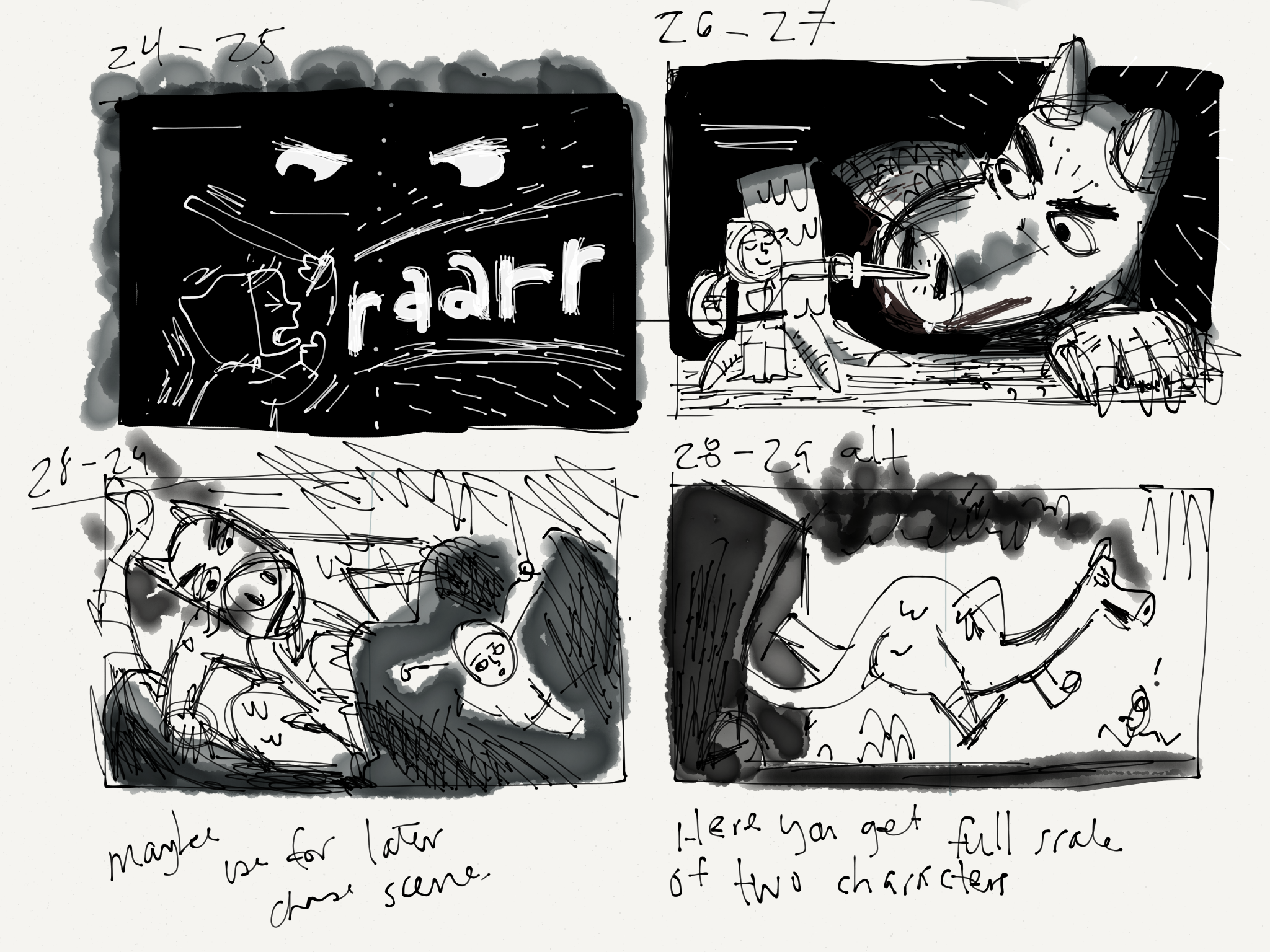Thumbnails to help get pacing/page breaks squared away.
