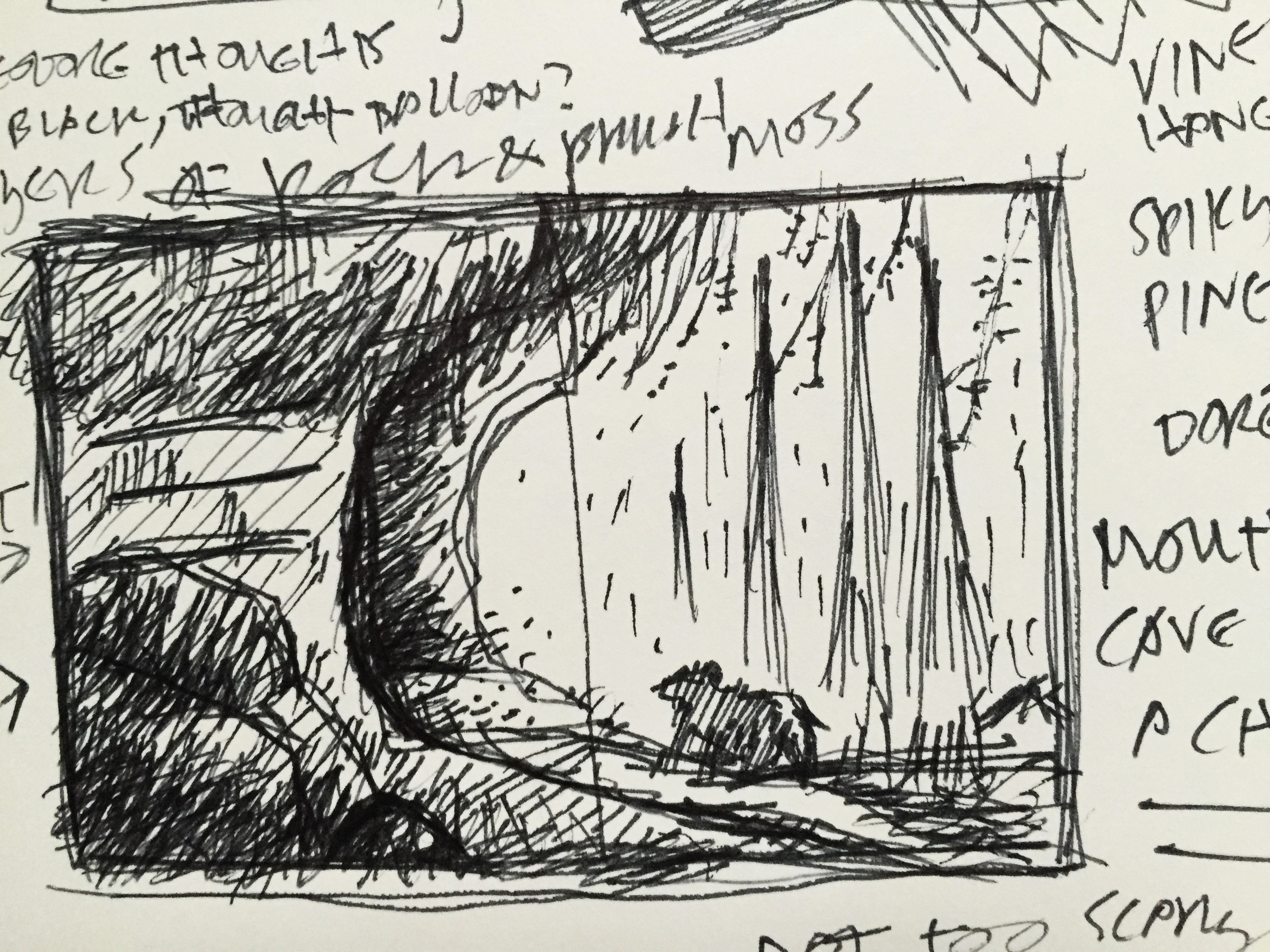 More cave planning sketch.