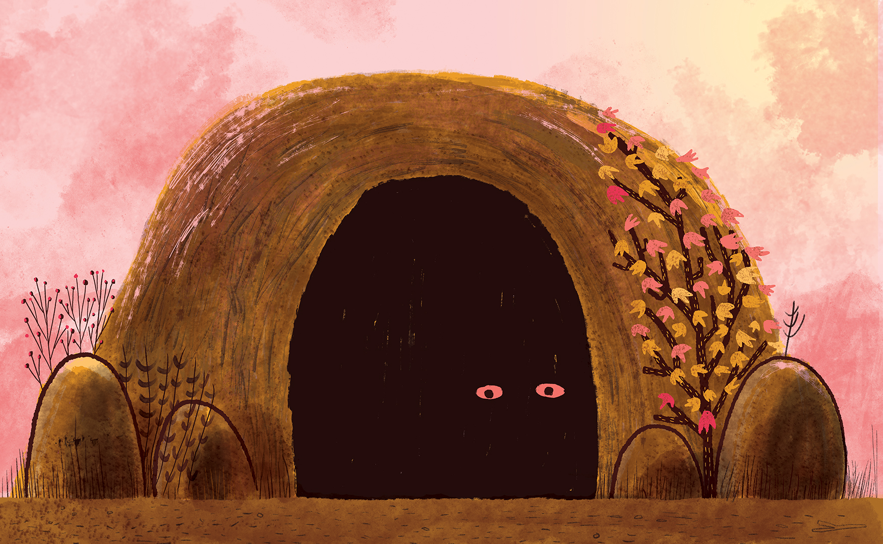 Theodore lived in a cave. It was a quiet cave, and that's the way he liked it.