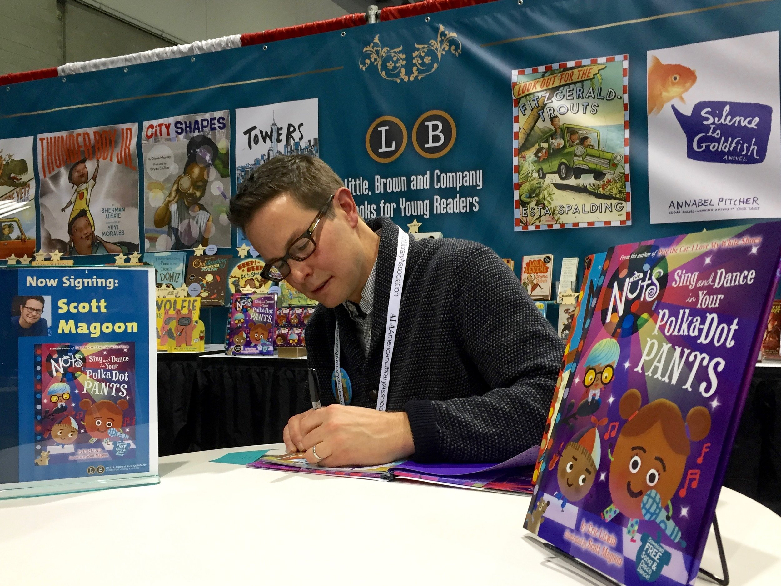 Signing Sing and Dance in Your Polka Dot Pants at ALA Midwinter.