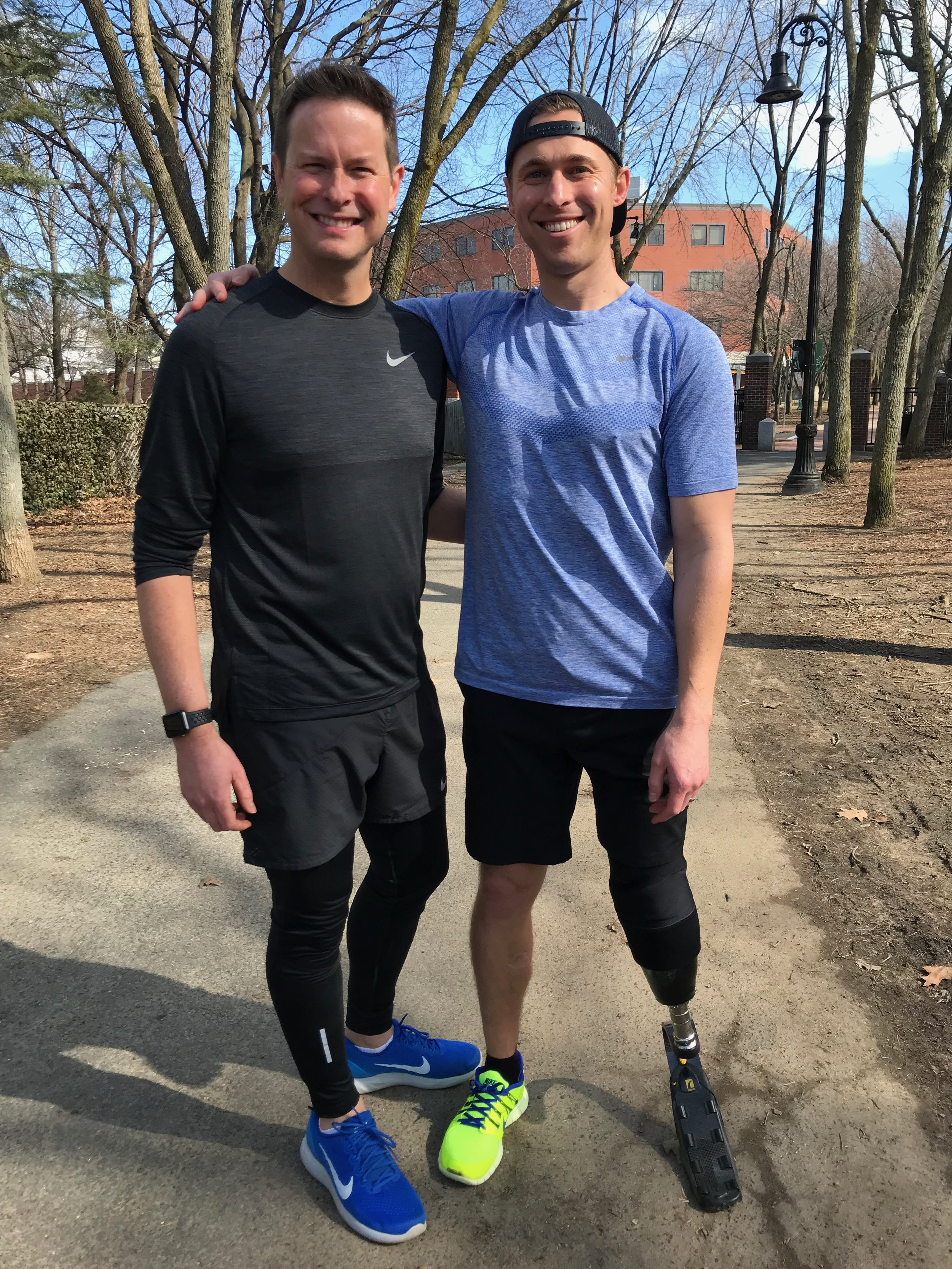 Patrick and I ran together as part of our 2018 Boston Marathon training.