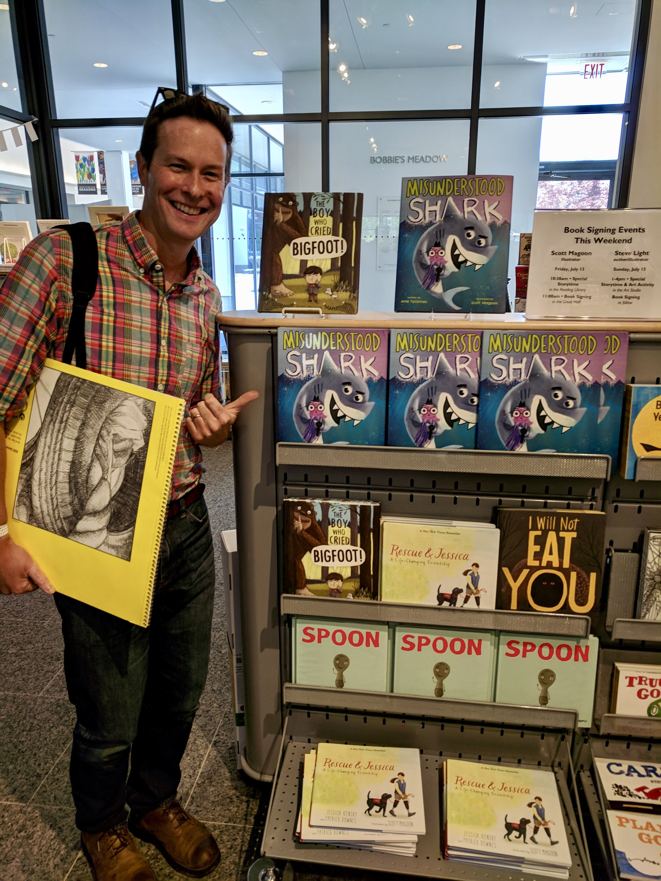 I even signed copies of my book for the bookstore! Photo courtesy David Feinstein.