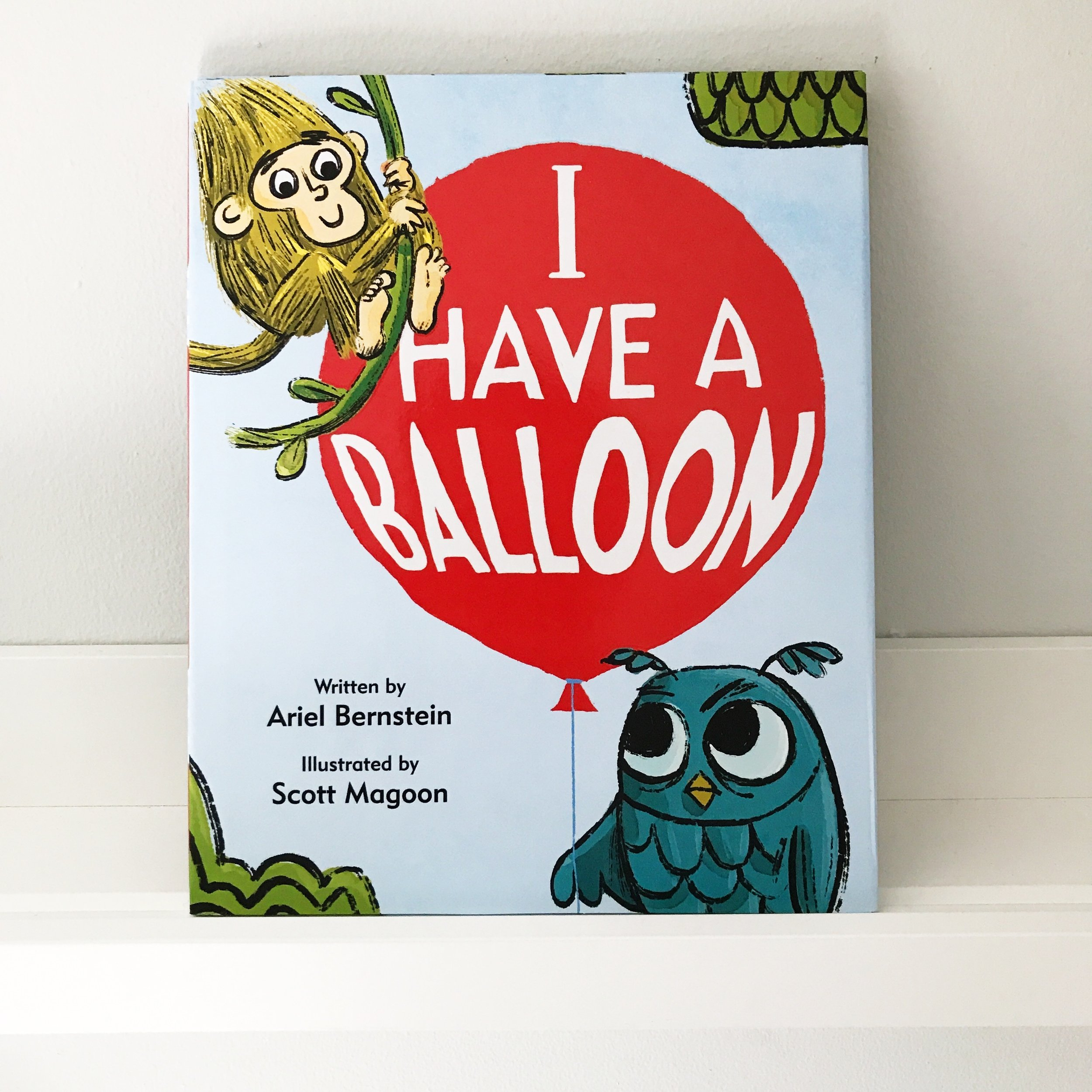 In case you missed it... - Check out book 1! Owl has a bright beautiful shiny red balloon. Monkey does not—but oh, how he wants Owl's. Owl does not want to give it to Monkey. So he tries to find something that Owl wants: a teddy bear, a robot, a picture of TEN balloons. Owl does not want any of these things. But then, Monkey offers him…a sock!Hmmmmm…Owl is intrigued thanks to Monkey's compelling sock sales pitch. Will Monkey strike his deal with Owl and will they make their trade? Learn more.