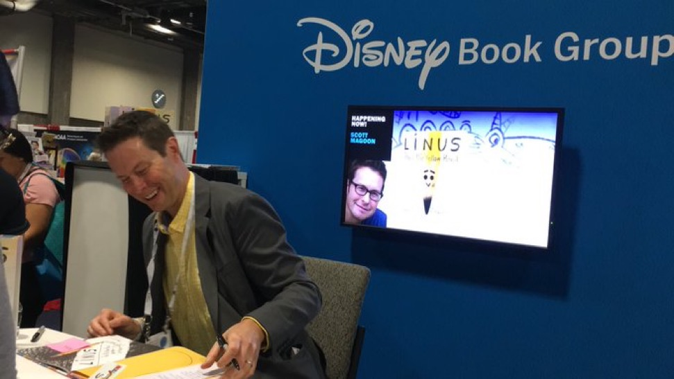 Thanks to Heather Crowley for the pic of me signing at ALA!