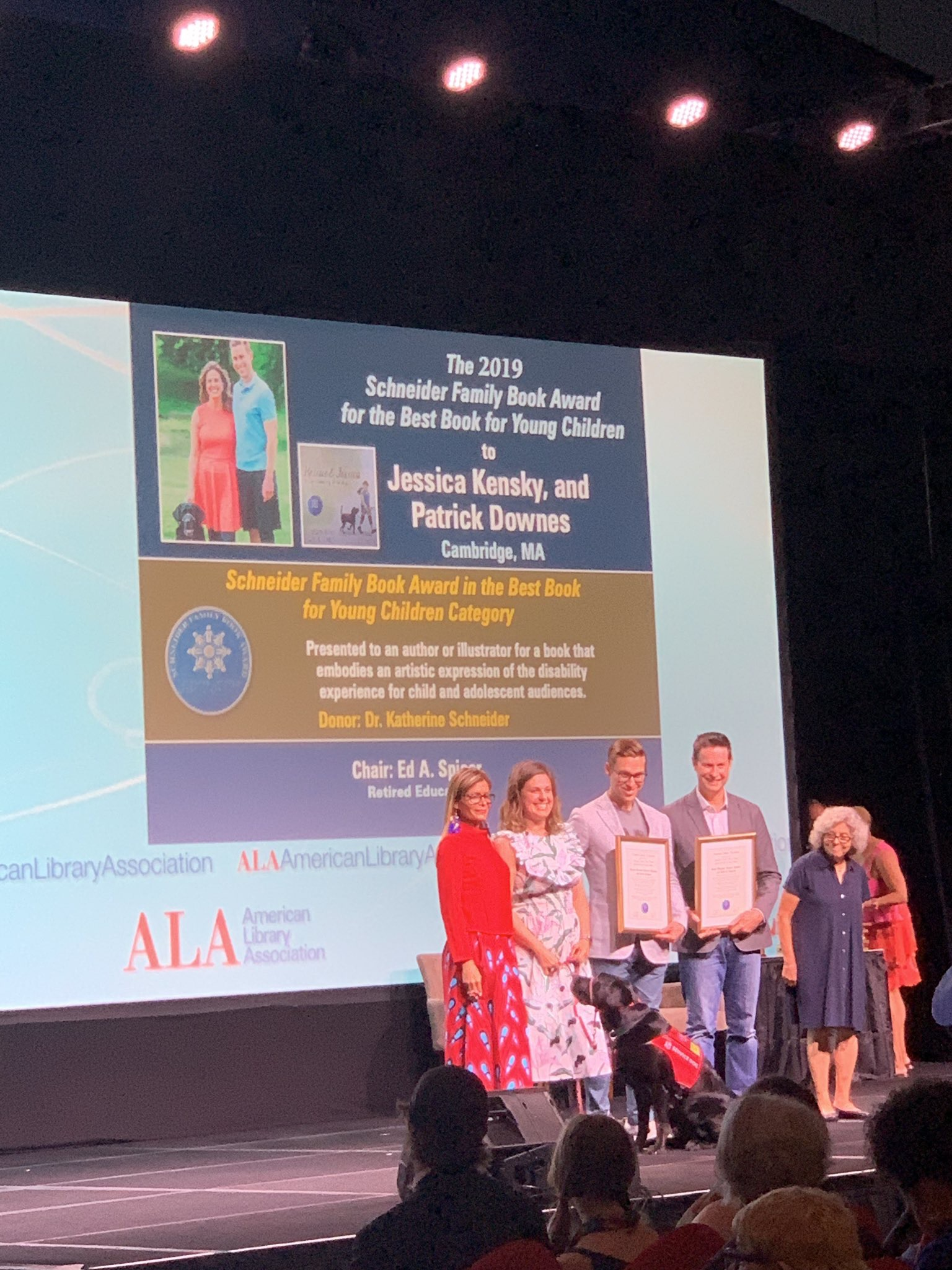 Receiving our Schneider Award at ALA in Washington, DC.