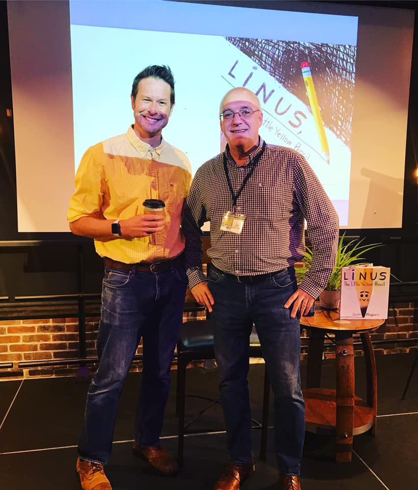 With my longtime pal  Leo Landry  at  An Unlikely Story  on 7/24/19! Thanks to Cassie at An Unlikely Story for this pic.