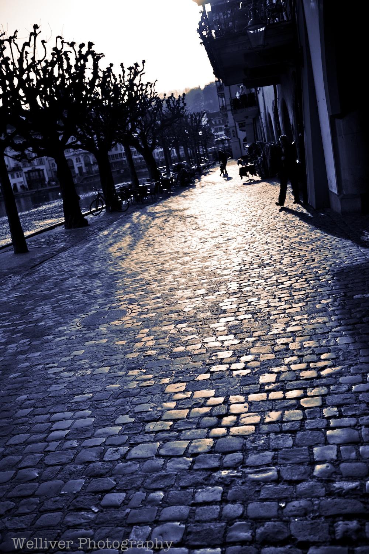 Lucerne Sidewalk....Oh how I miss Lucerne.