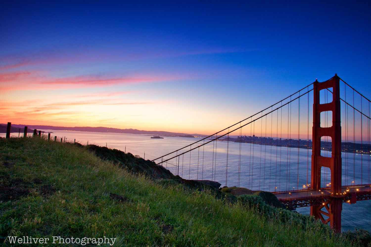 Marin County: Golden Gate Bridge at Sunrise by Beth.