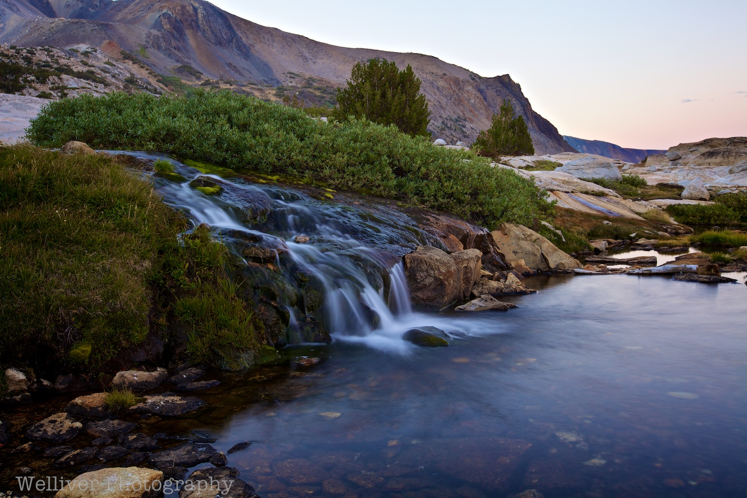 Twenty Lakes Basin, Hoover Wilderness: Cascade by Terry.