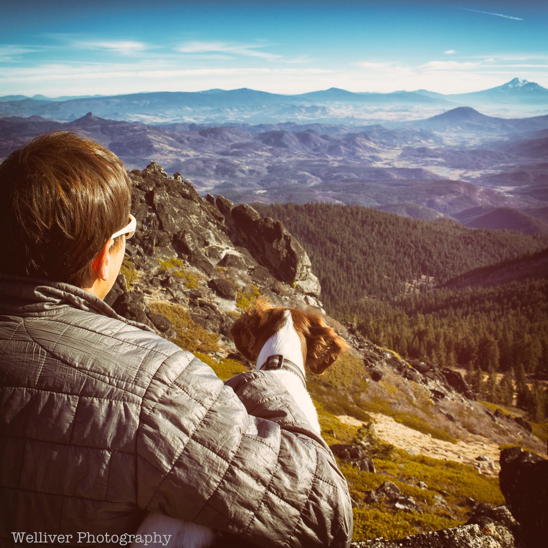 Looking toward Mt. Shasta from Mt. Ashland