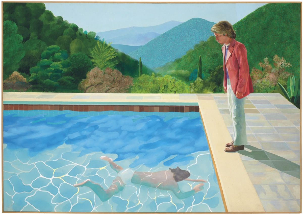 David Hockney,  Portrait of an Artist (Pool with Two Figures) , 1972. Courtesy of Christie's, via Artsy