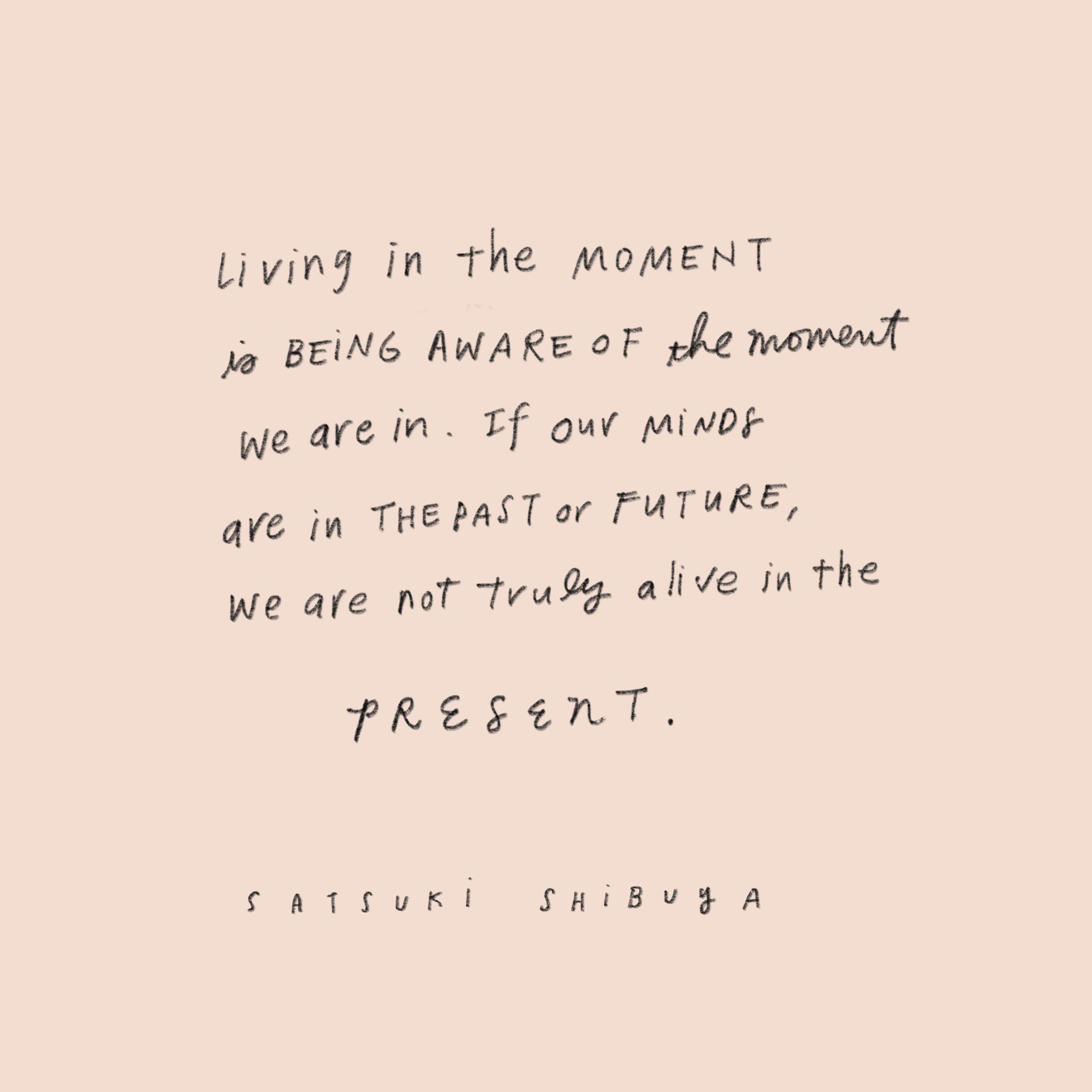 Living In The Moment — Satsuki Shibuya