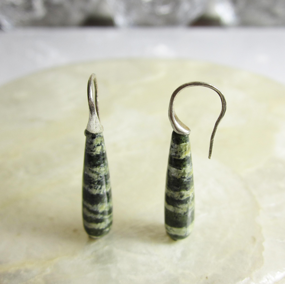 Sterling Silver and Chrysolite Earrings