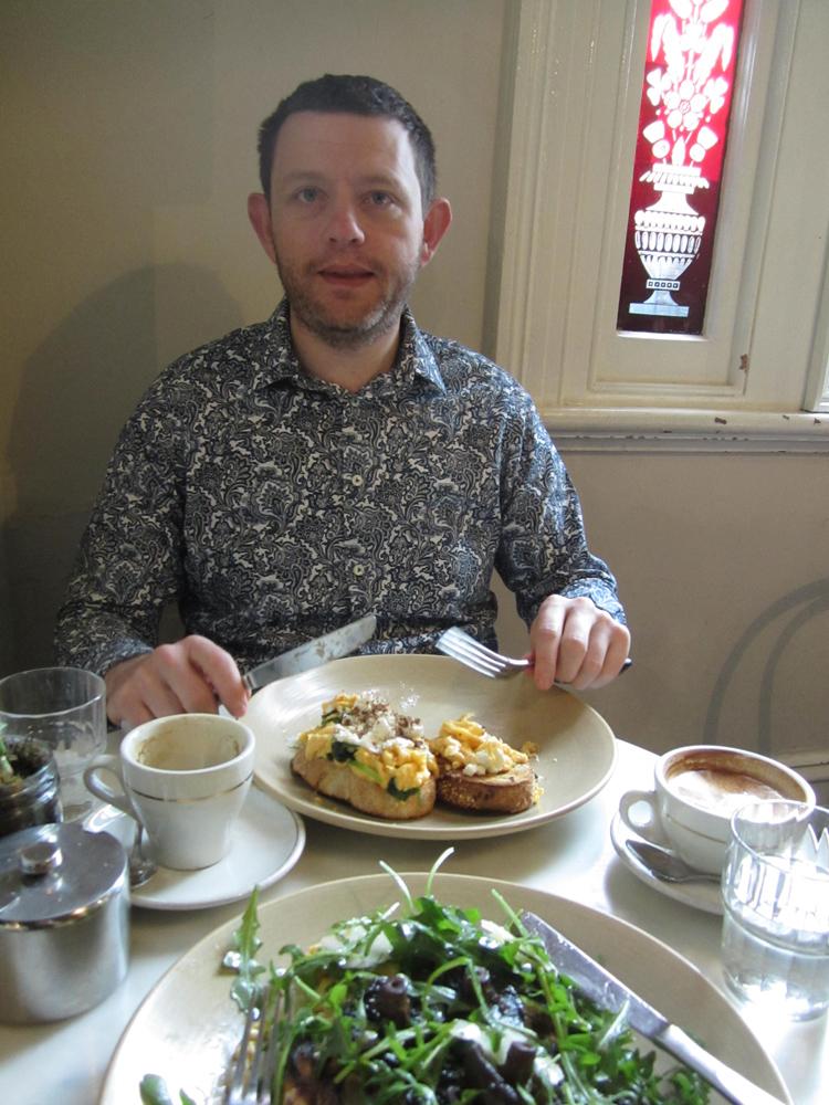 Owen at Breakfast