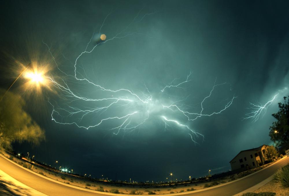 Spider lightning over Nevada, USA