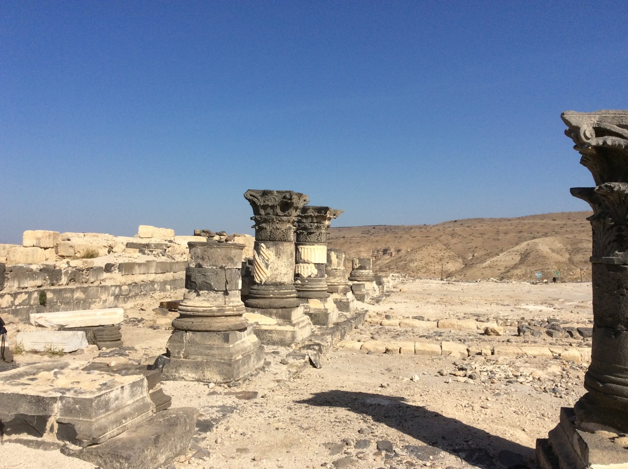 Among the ruins of Susita in the Golan Heights, Israel.