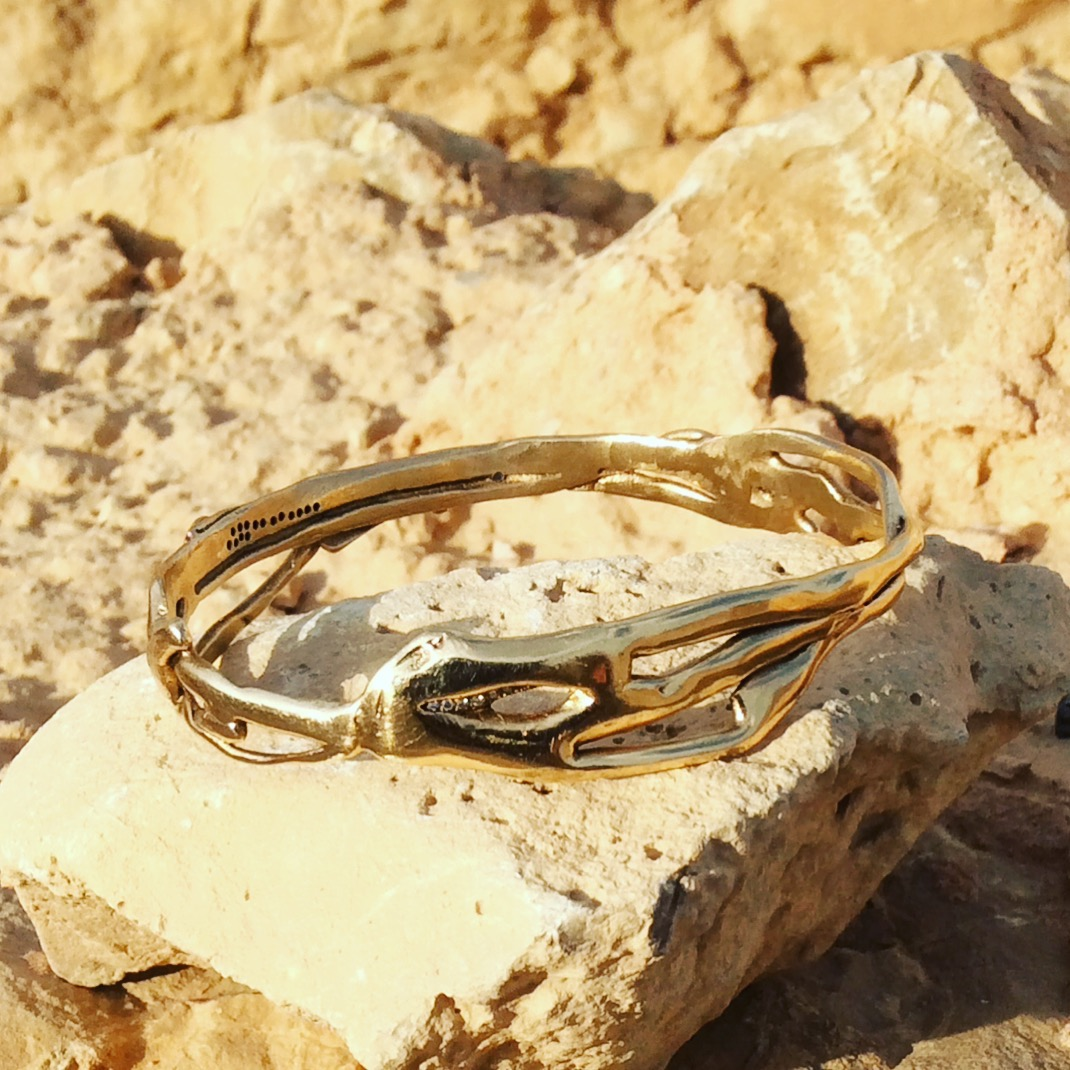 On golden stones.  Shot on location at Masada, near the Dead Sea, Israel.  For more information:   http://tinyurl.com/zjyebfp