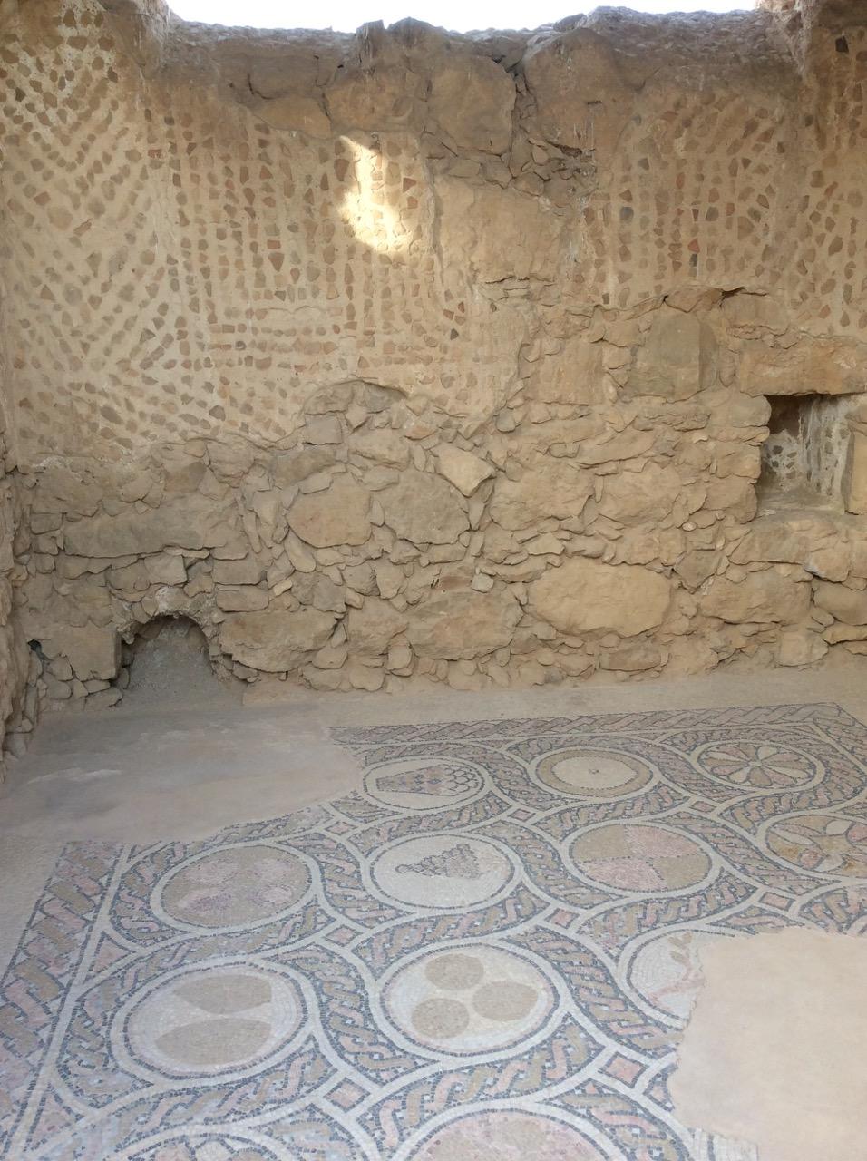 Mosaics, palace interior, Masada.