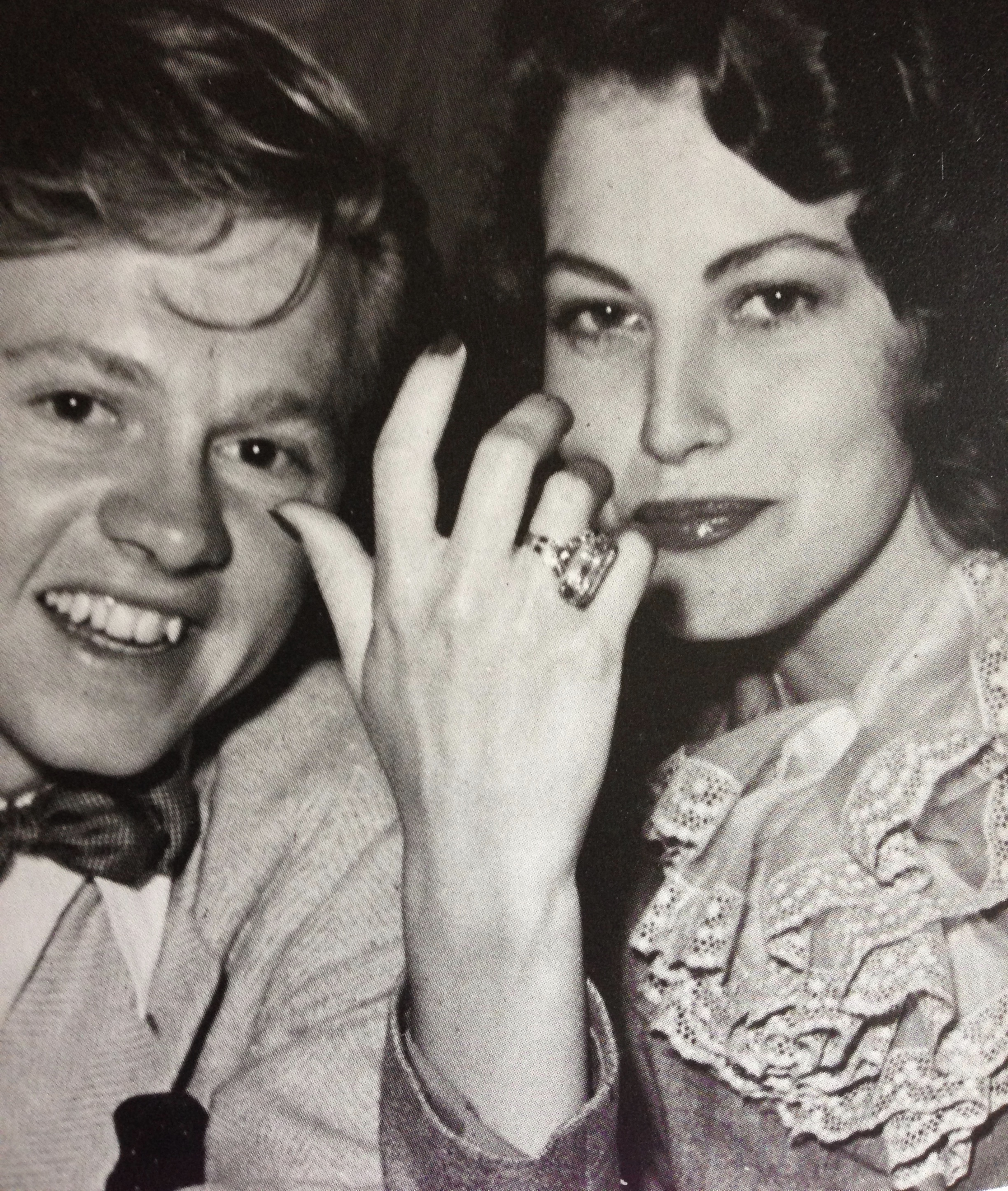 Ava Gardner and Mickey Rooney were engaged in 1942.  The ring her gave her was diamonds set in yellow gold.  During the war years of 1940-45, platinum was not available for use in jewellery.