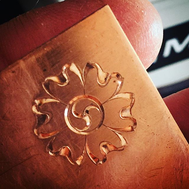 When in doubt, engrave something.  Can I have too many flower motifs, I ask myself?
