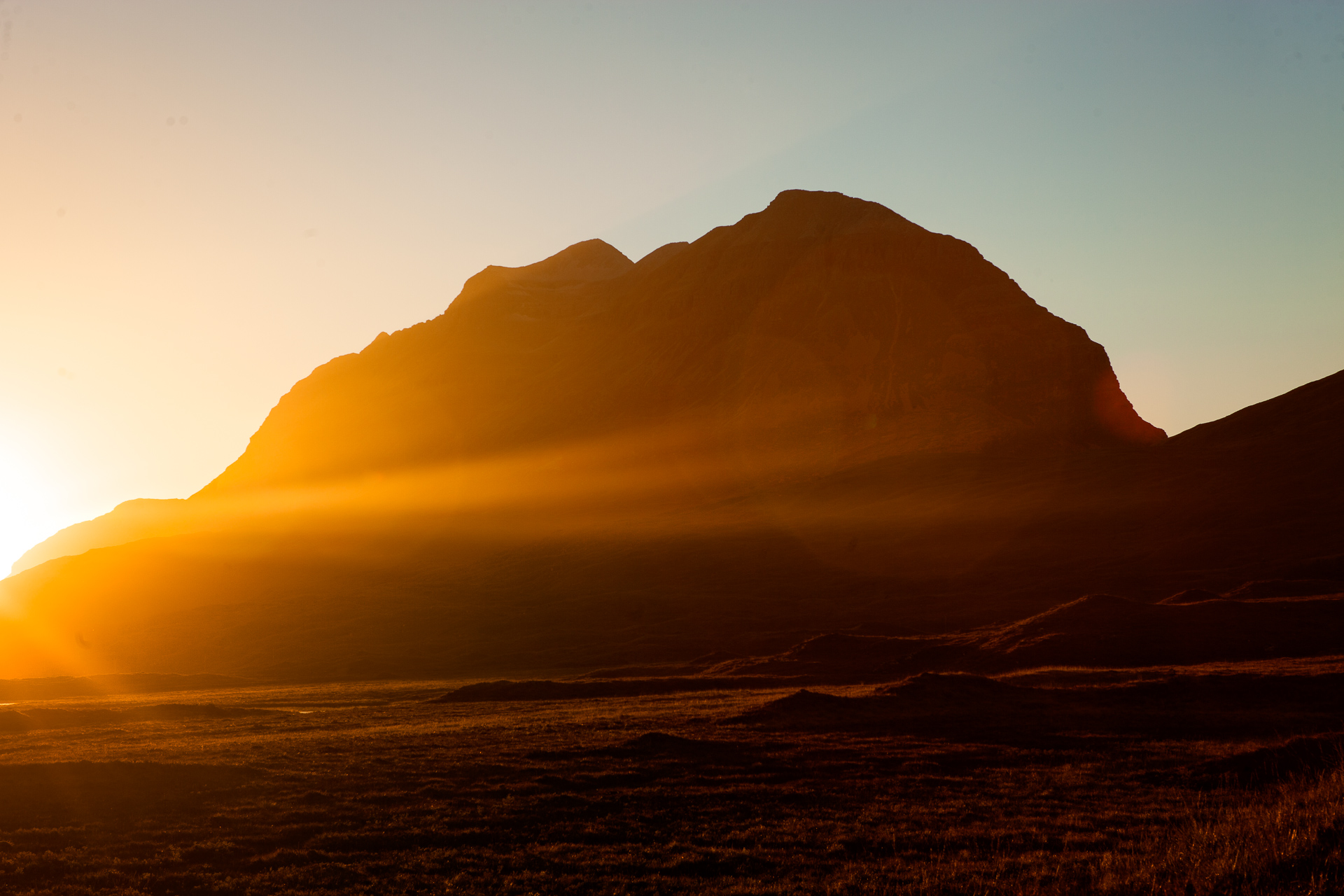 Sunset on Liathach
