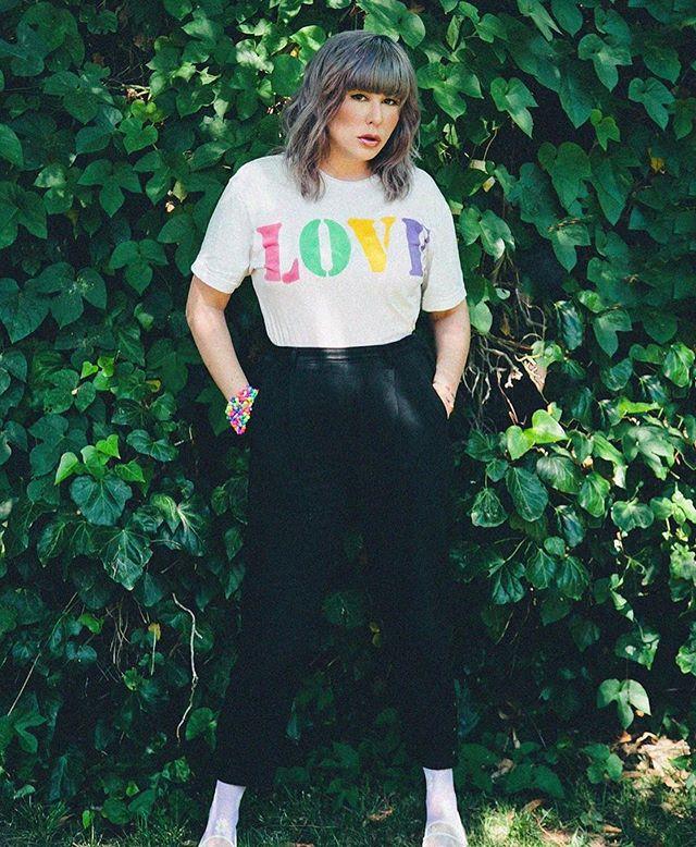 #SummerOfPride ✨🌈 via @laykeofficial in our Love tee 💓