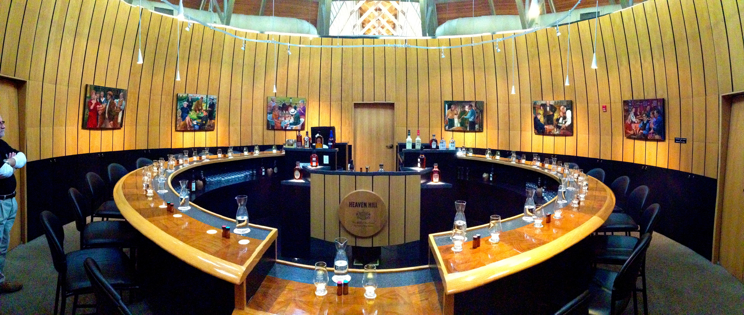 The famous barrel-shaped tasting room at  Heaven Hill Distillery .