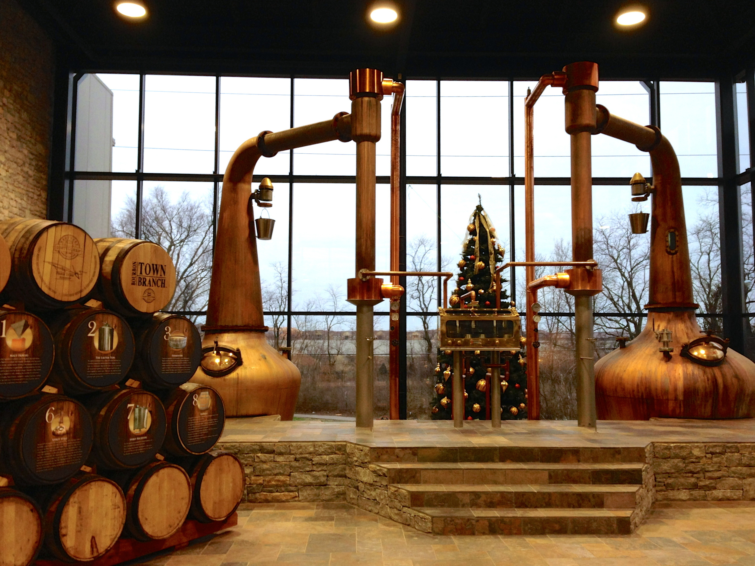 The distillation room at  Town Branch.