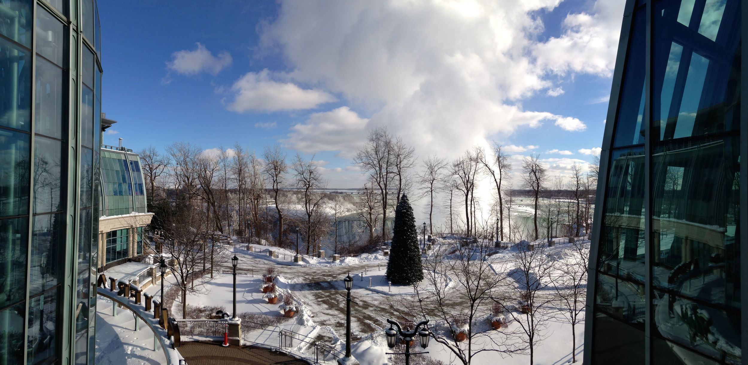 A view of the Canadian Falls, from the Fallsview Casino.