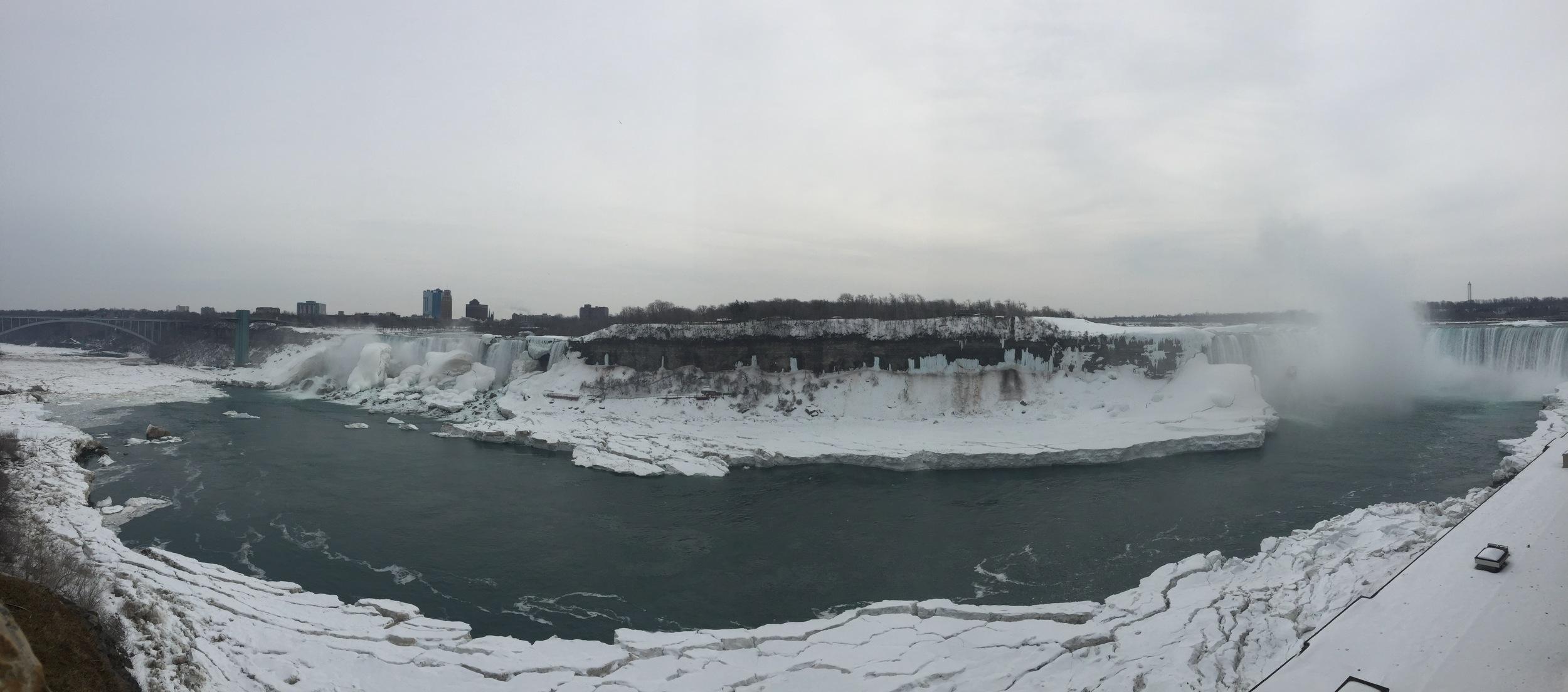 Frozen Niagara Falls - US and Canadian Sides