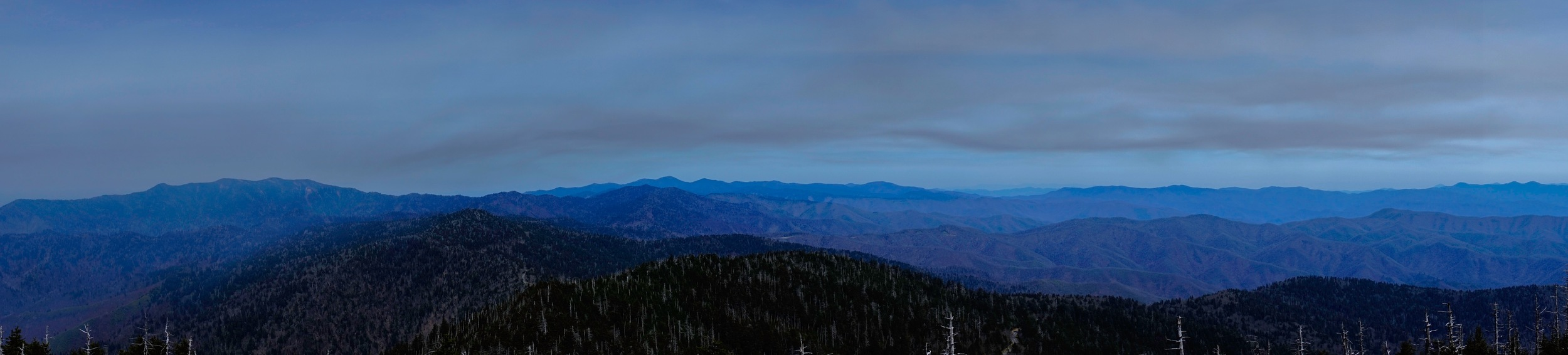 The highest point in the Smoky Mountains, Clingman's Dome.