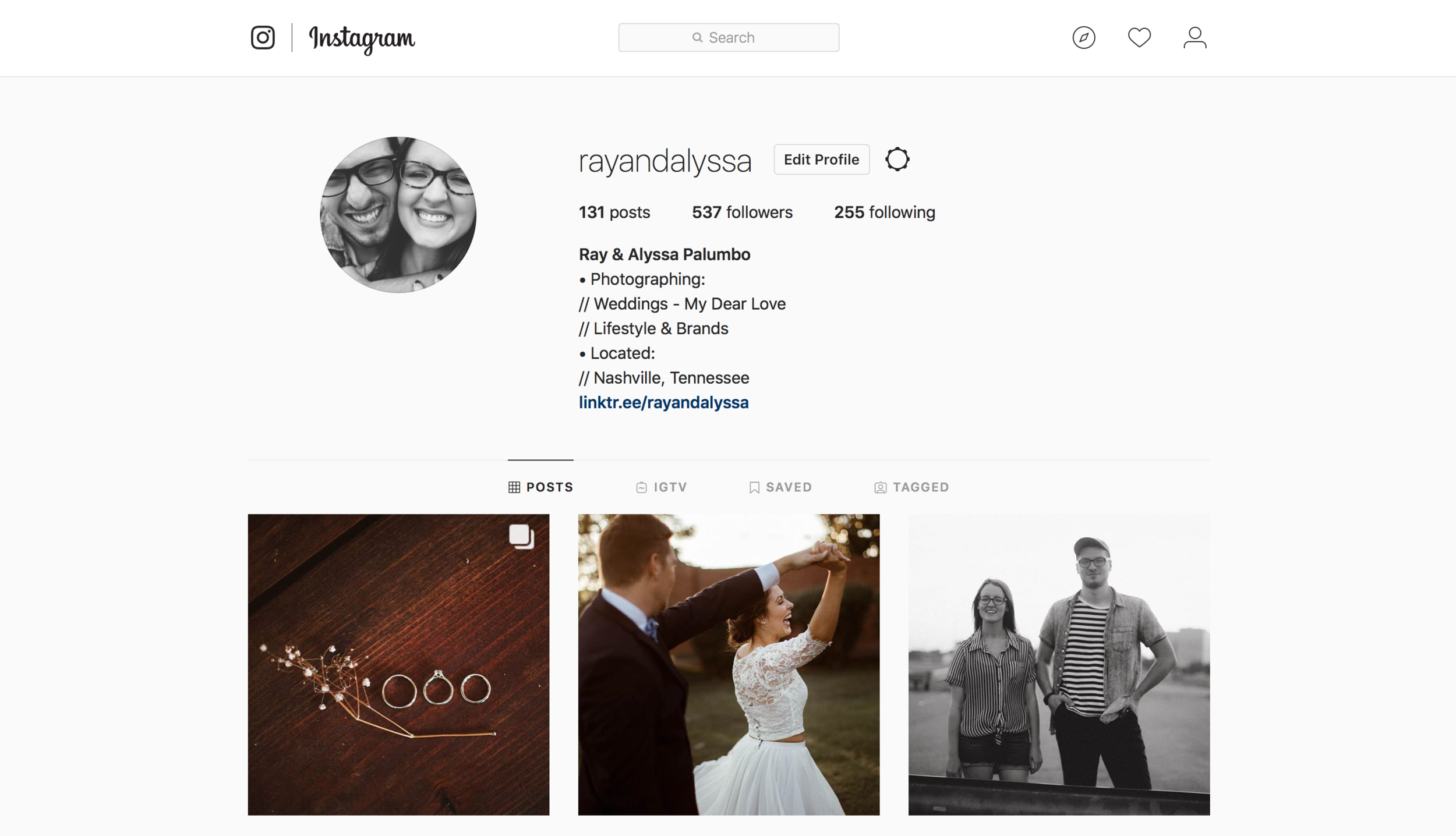 Instagram - We want to stay connected during your engagement & after your wedding! Sometimes we have a hard time finding people on social media. Make sure you find us, so we can follow you back! @rayandalyssa