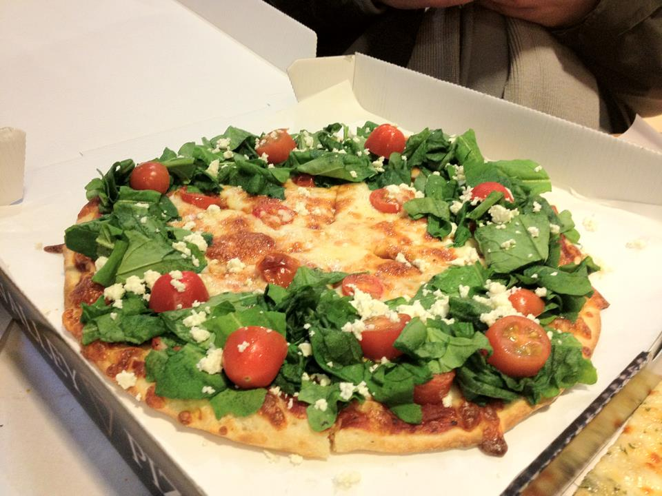 Christmas Arugula Pizza