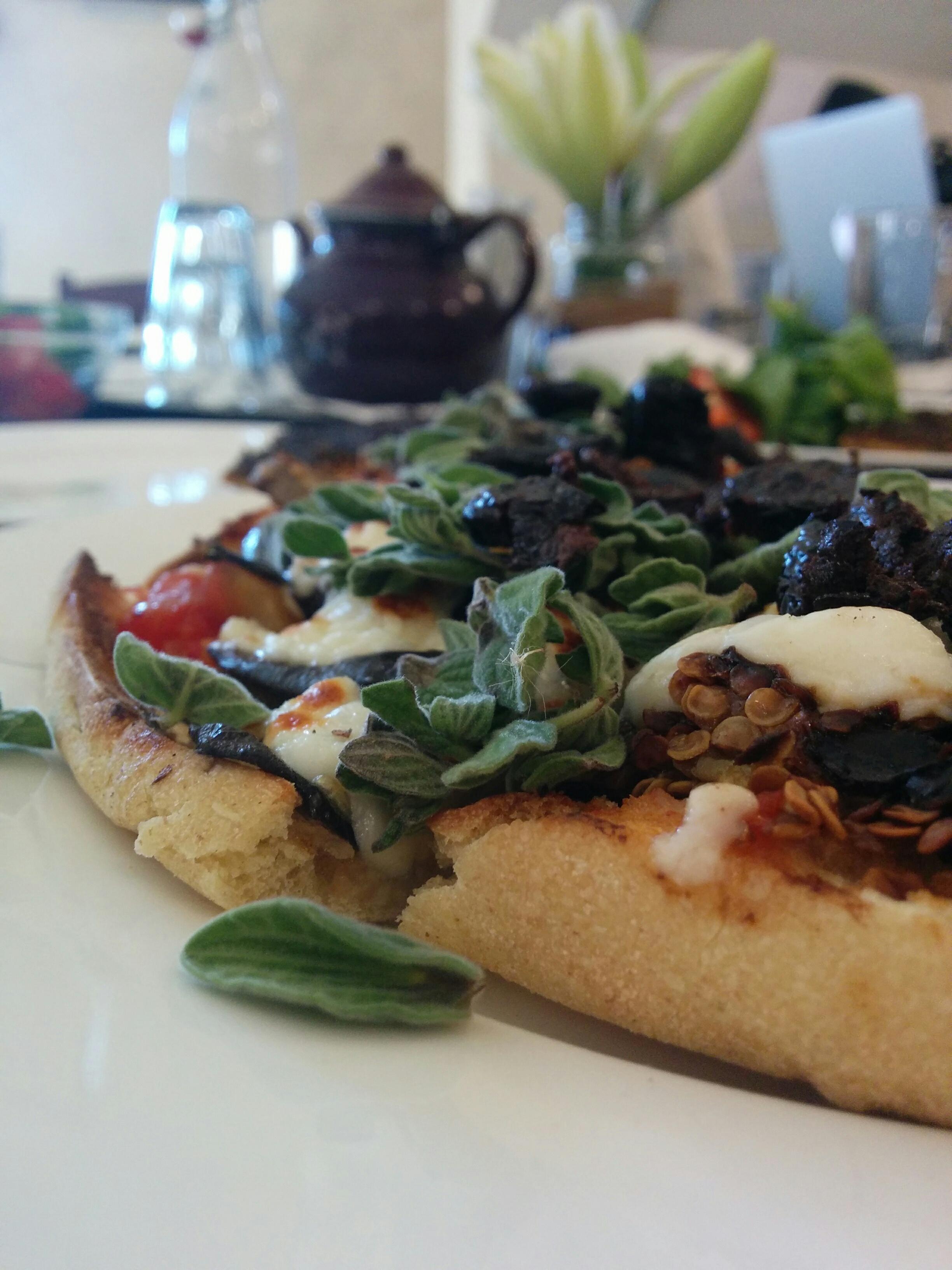 The aubergine flatbread at Shams al Balad