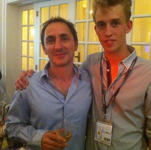 Philip og David Droga drak dus i Cannes.