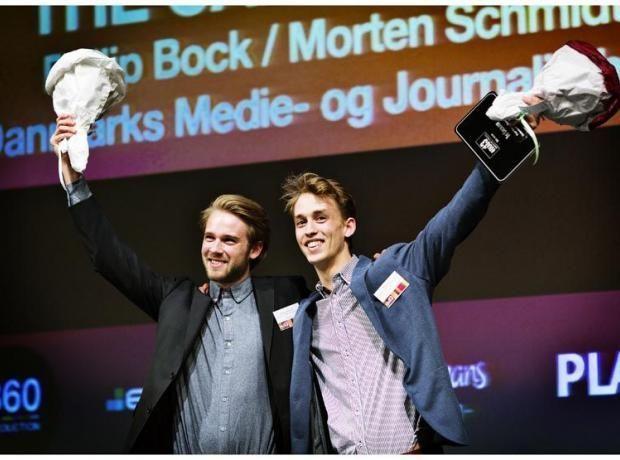 Philip og Morten Schmidt på vinderpodiet ved DIA Future.