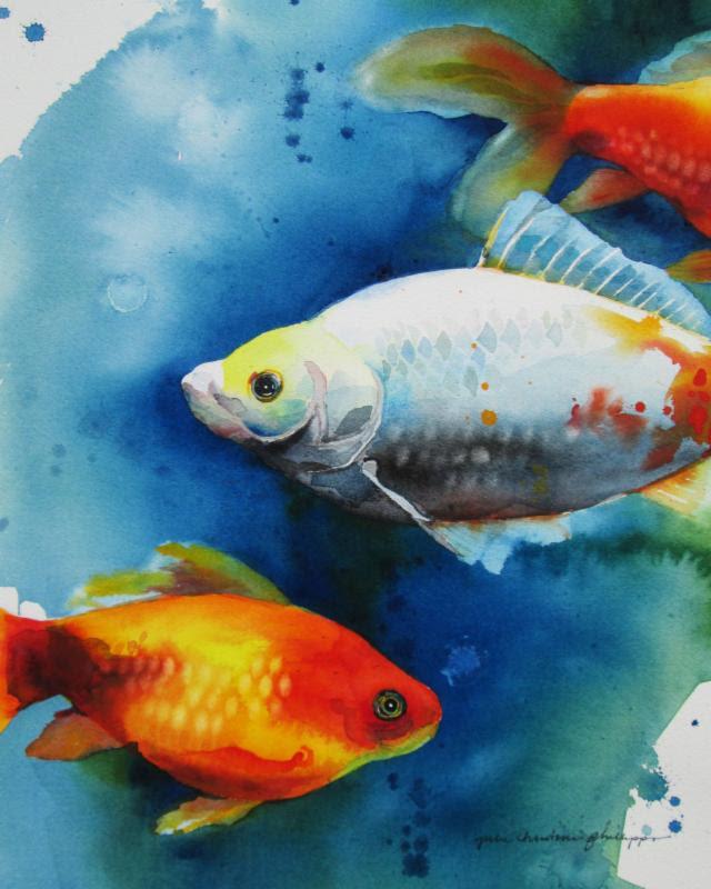 Three Goldfish by Julie Philips