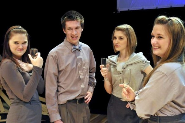 {i'm third from the left... My sassy freshman theatre days!}