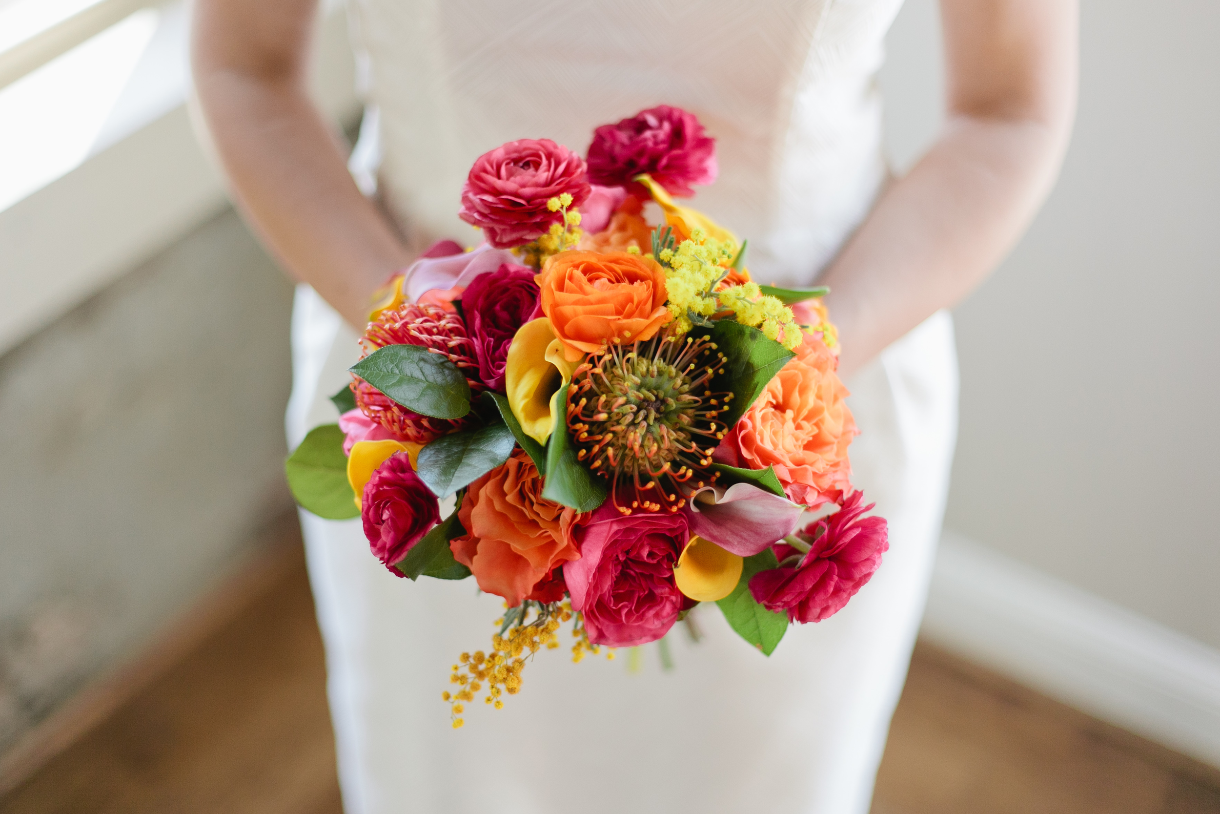 Kelly Dellinger Events ranunculus bright bouquet