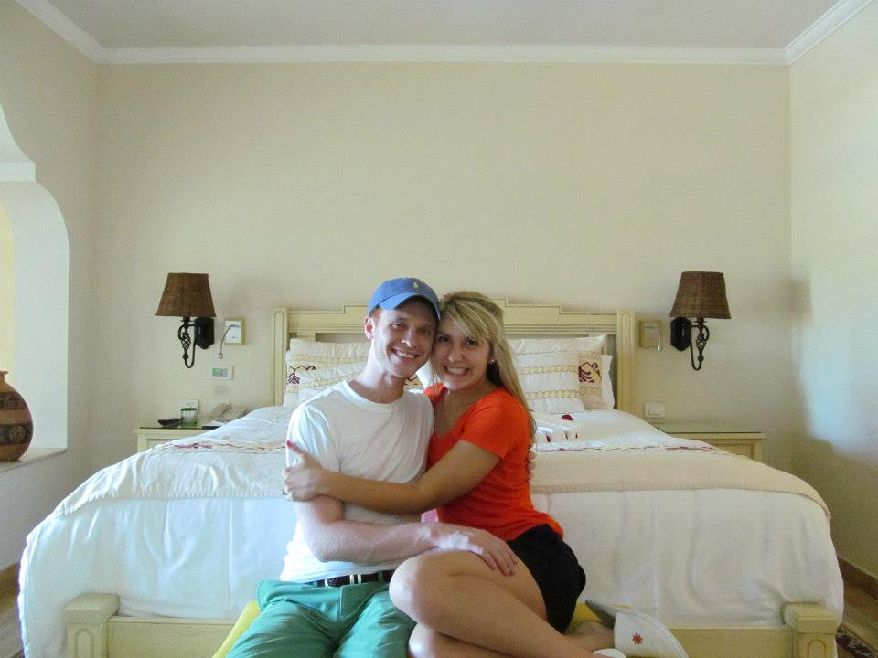 ECSTATIC honeymooners! {Self-timer pic taken immediately upon our arrival!}