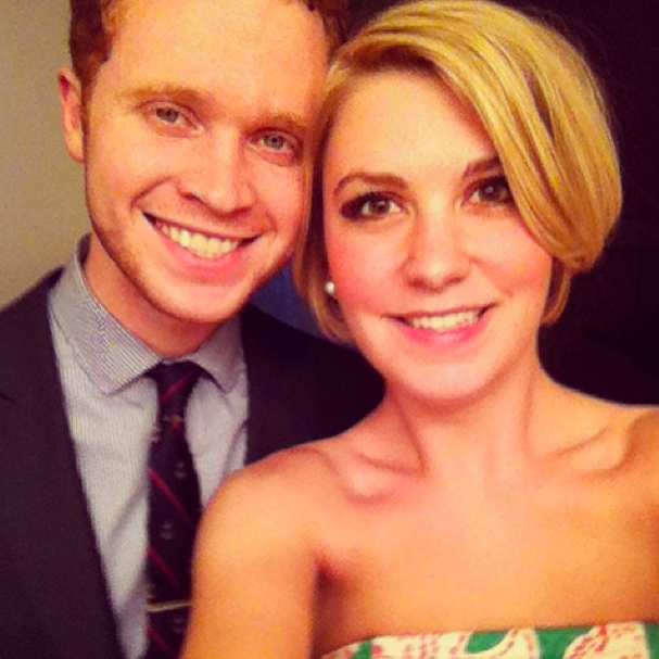 Huz & I before a dear friend's graduation dinner earlier this month! Isn't he dapper?!