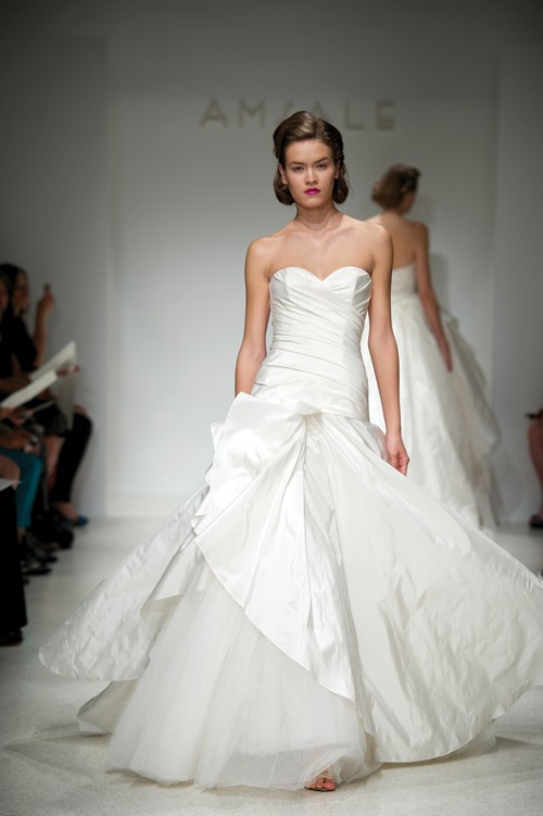 This gorgeous Amsale gown will be up for grabs at next weekend's Super Sample Sale!