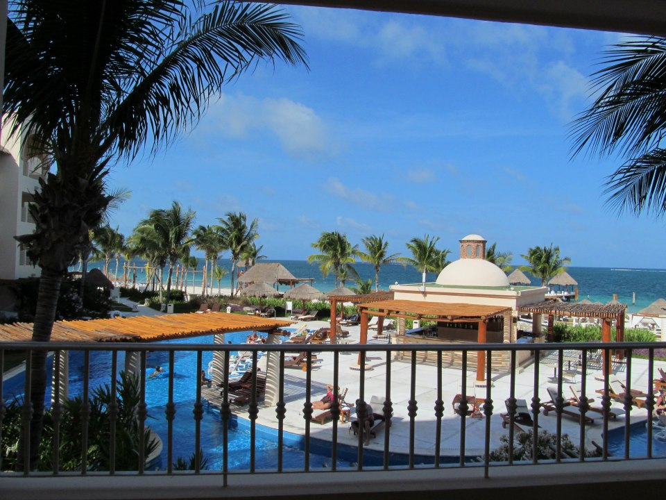 Is this love, is this love, is this love, is this love that I'm feeling?  Absolutely -- Excellence Riviera Cancun is absolutely swoon-worthy. View from our room.
