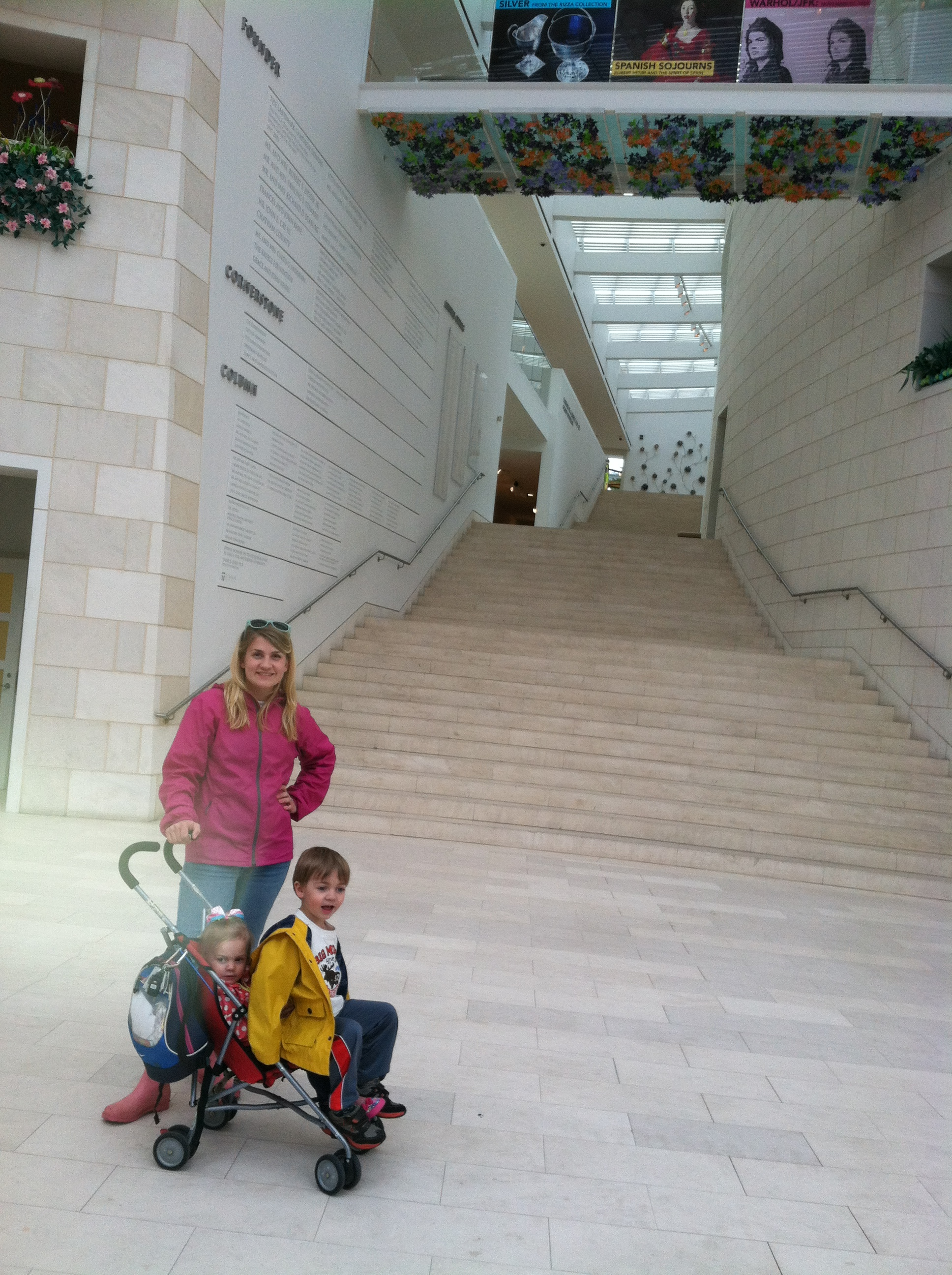 My sis & her youngest two kids at the Jepsen Center Art Museum in Savannah, GA