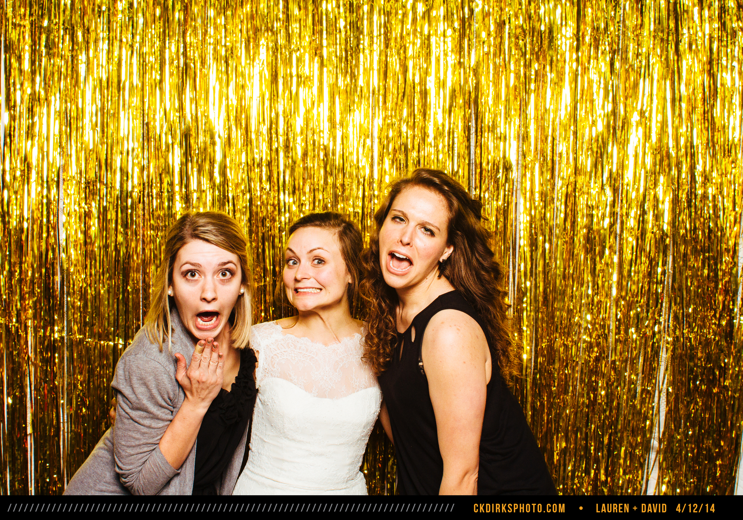 Taken from the photo booth at Lauren & David's affair Apr. 12!