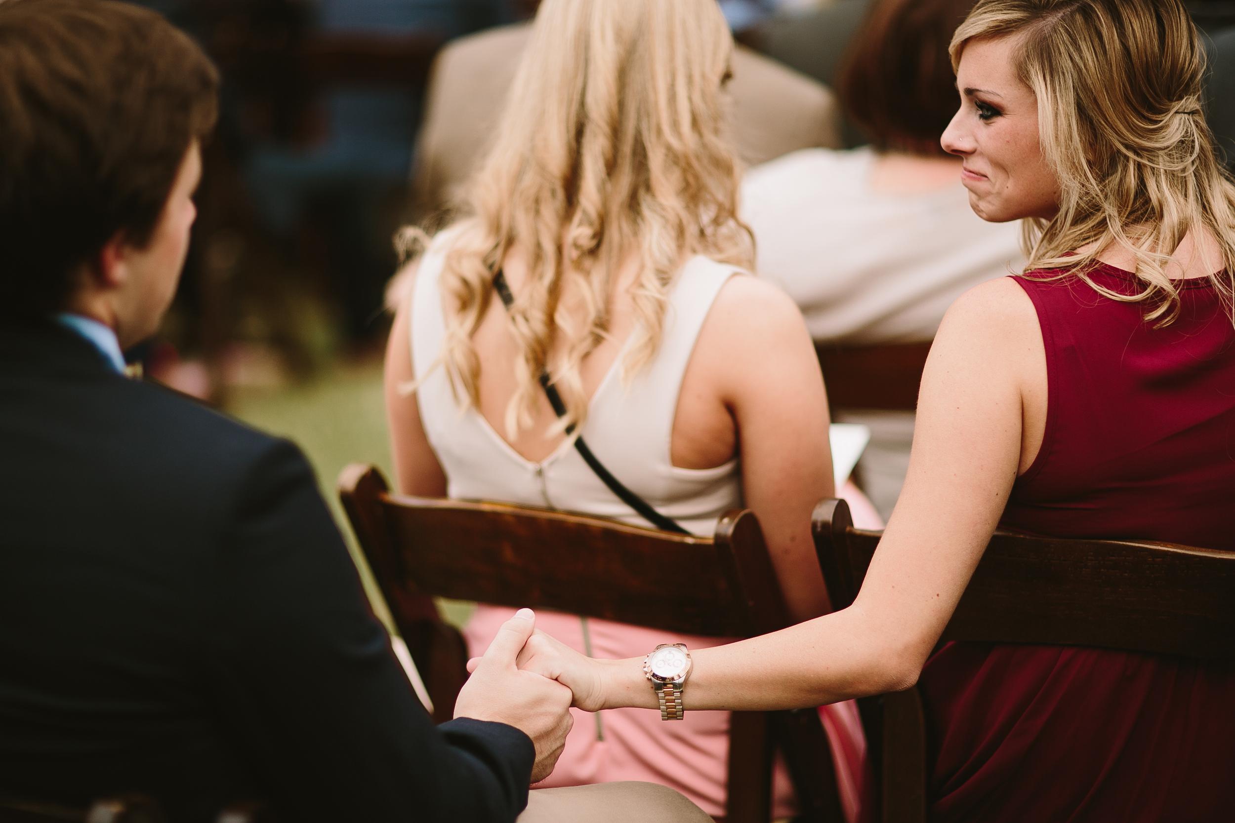 emotional moment at wedding ceremony
