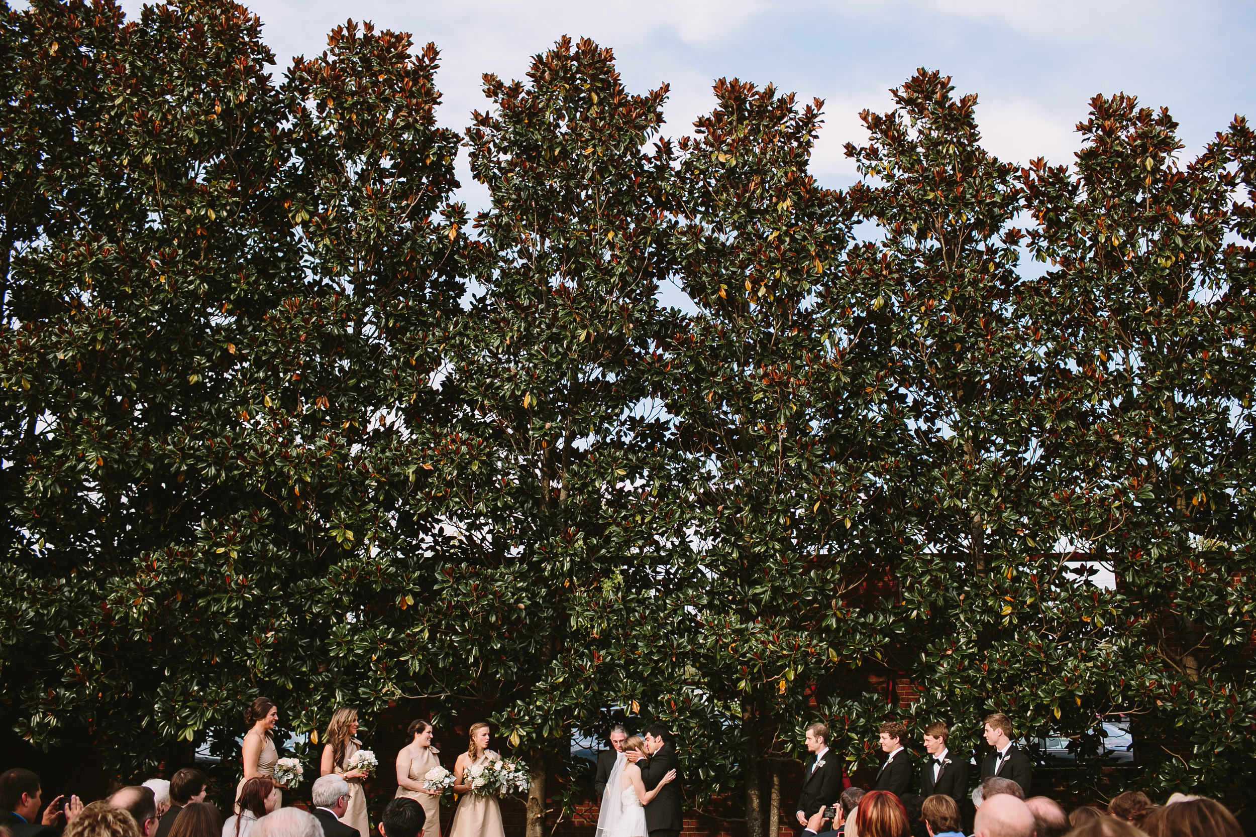 magnolia trees wedding ceremony