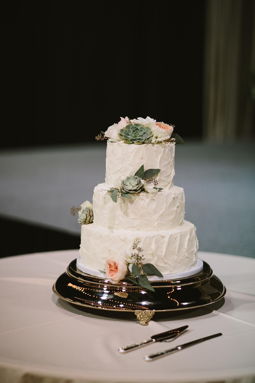 textured buttercream succulent cake