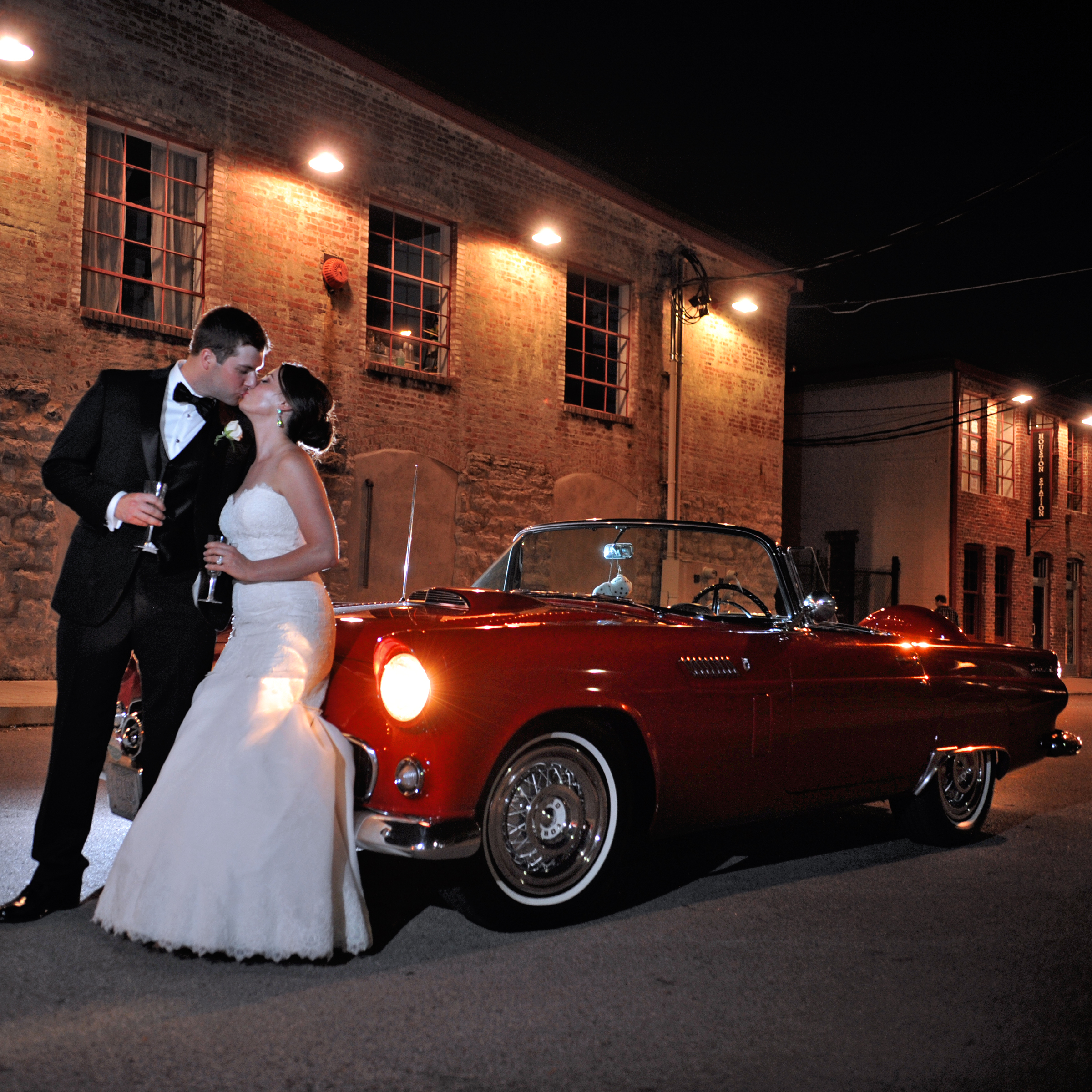 Sneak peek from Paul Wharton of Erin & Alfred's June wedding! Isn't that T-bird to die for?!